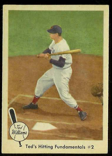 1959 Fleer Ted Williams #72 'Hitting Fundamentals #2' (Red Sox) Baseball cards value