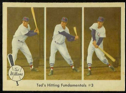 1959 Fleer Ted Williams #73 'Hitting Fundamentals #3' (Red Sox) Baseball cards value