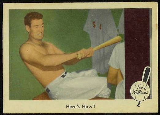 1959 Fleer Ted Williams #74 'Here's How!' (Red Sox) Baseball cards value