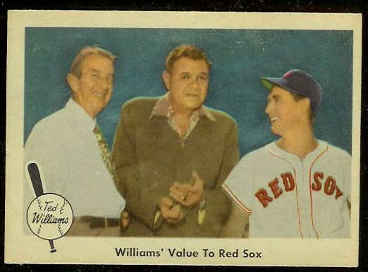 1959 Fleer Ted Williams #75 'Williams' Value to Sox' (Red Sox) Baseball cards value
