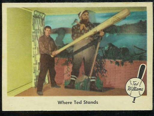 1959 Fleer Ted Williams #79 'Where Ted Stands' [#a] (Red Sox) Baseball cards value