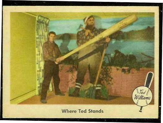 1959 Fleer Ted Williams #79 'Where Ted Stands' [#bsc] (Red Sox) Baseball cards value