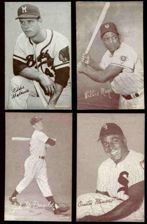 1947-66 Exhibits #211 Orestes 'Minnie' Minoso ('Sox' cap) (Sepia) Baseball cards value