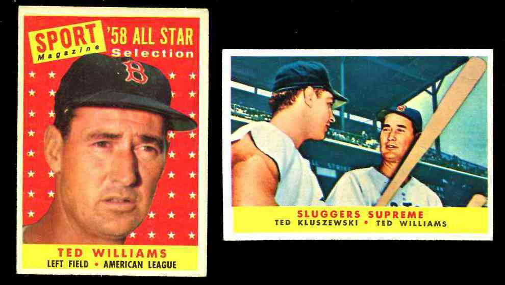 1958 Topps #485 Ted Williams All-Star [#x] (Red Sox) Baseball cards value