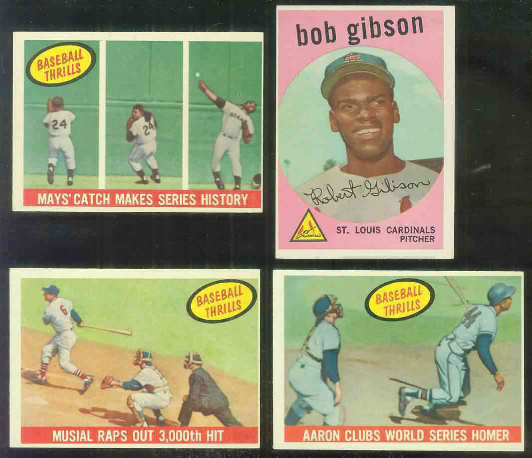 1959 Topps #514 Bob Gibson ROOKIE SCARCE HIGH #.(Cardinals) Baseball cards value