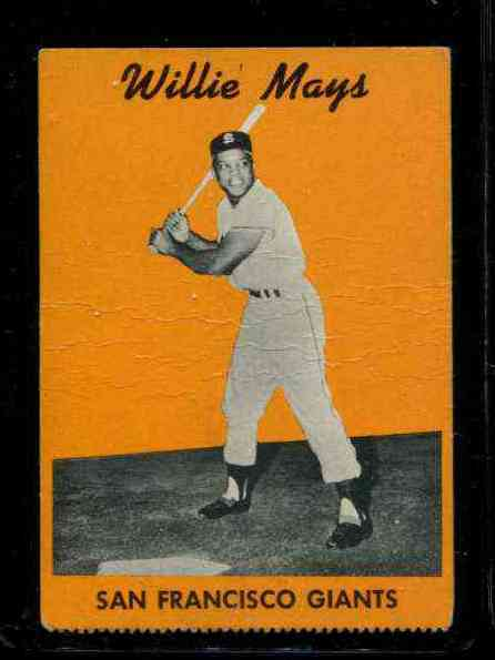 1958 Hires Root Beer TEST #7 Willie Mays (Giants) Baseball cards value