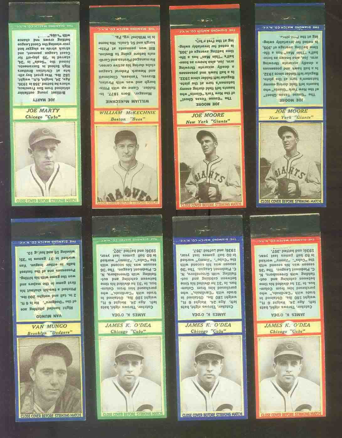 1935-36 Diamond Match Co. #112 Van Lingle Mungo BLUE (Dodgers) Baseball cards value