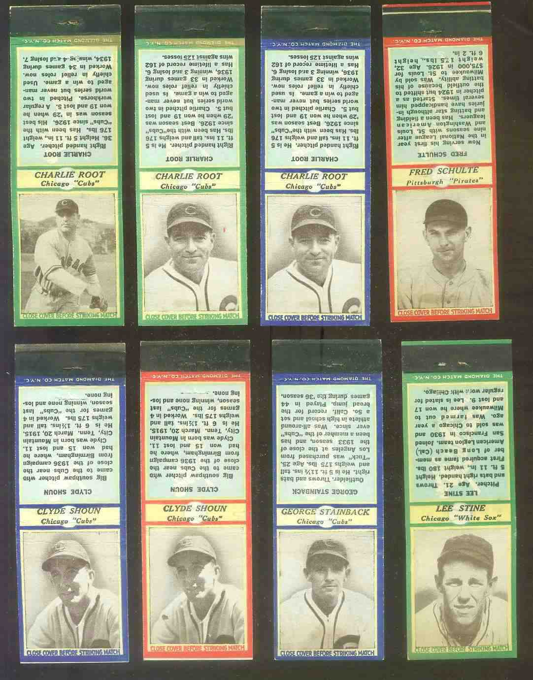 1935-36 Diamond Match Co. #131B Clyde Shoun BLUE (Cubs) Baseball cards value