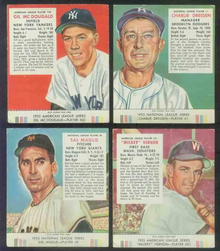 1953 Red Man #AL21 Mickey Vernon WITH TAB (Senators) Baseball cards value