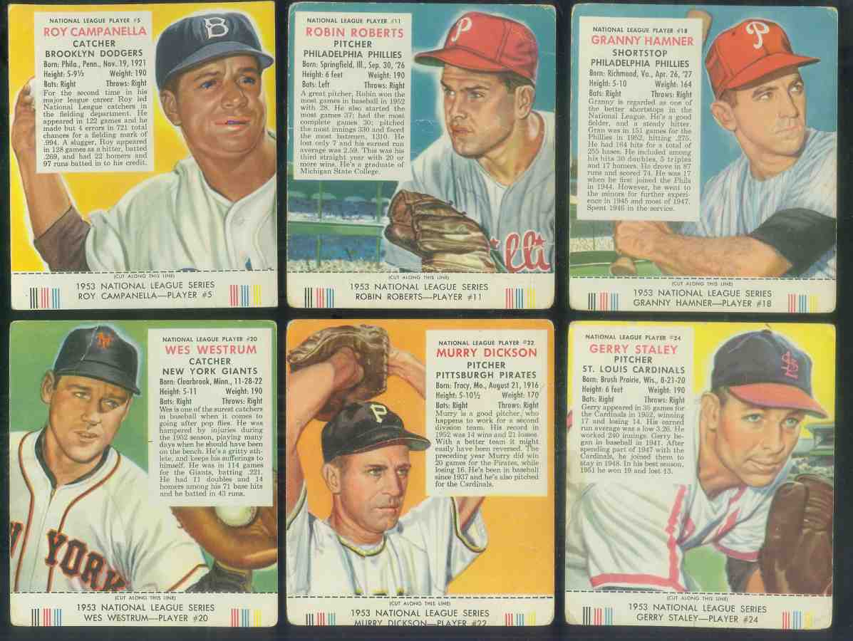 1953 Red Man #NL.5 Roy Campanella WITH TAB (Dodgers) Baseball cards value