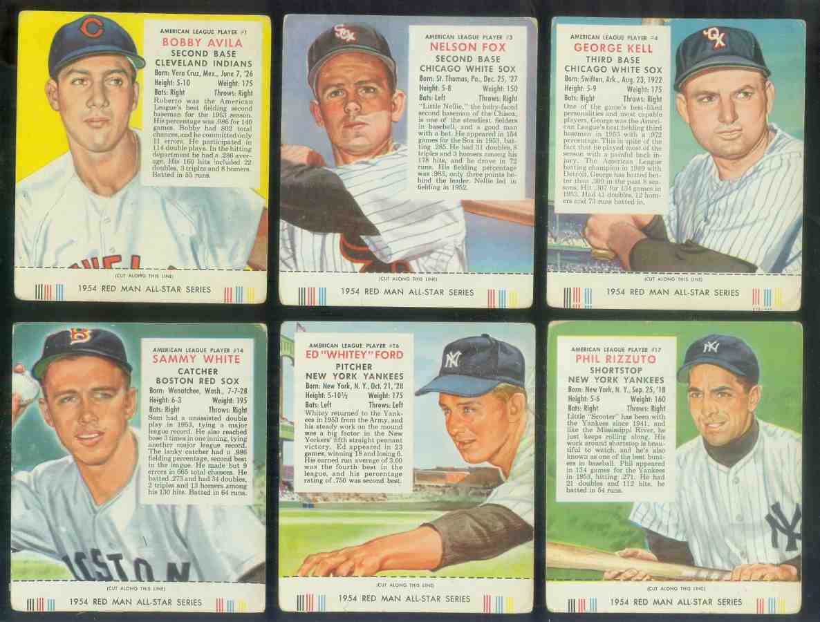 1954 Red Man #AL17 Phil Rizzuto WITH TAB [#x] (Yankees) Baseball cards value