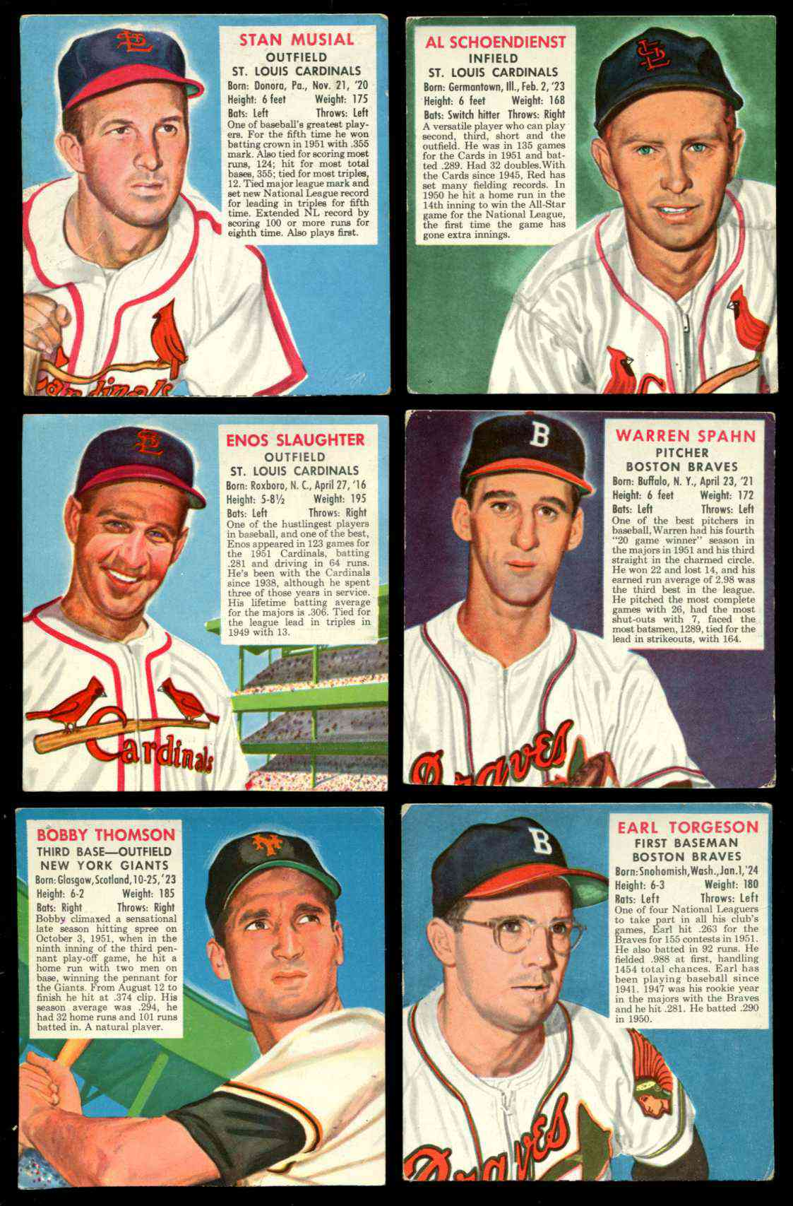 1952 Red Man #NL24 Bobby Thomson [#x] (Giants) Baseball cards value