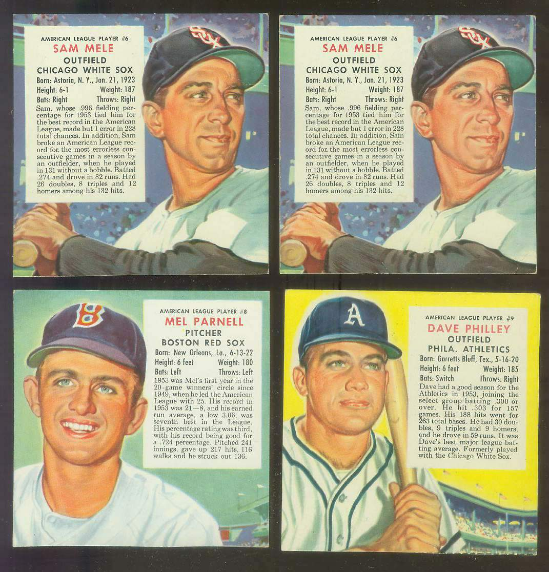 1954 Red Man #AL.4A George Kell {VAR:Red Sox} Baseball cards value