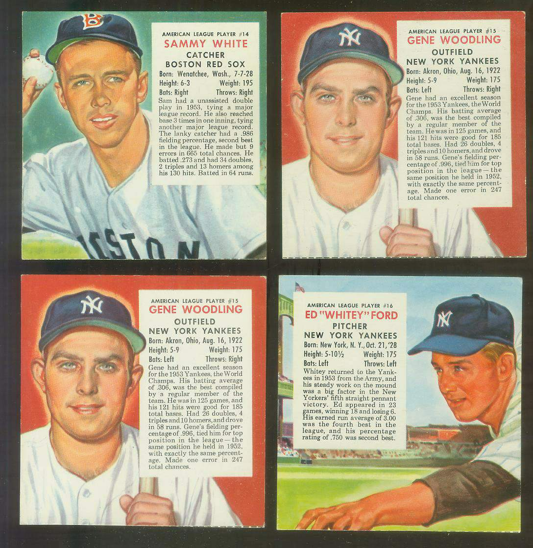 1954 Red Man #AL15 Gene Woodling (Yankees) Baseball cards value