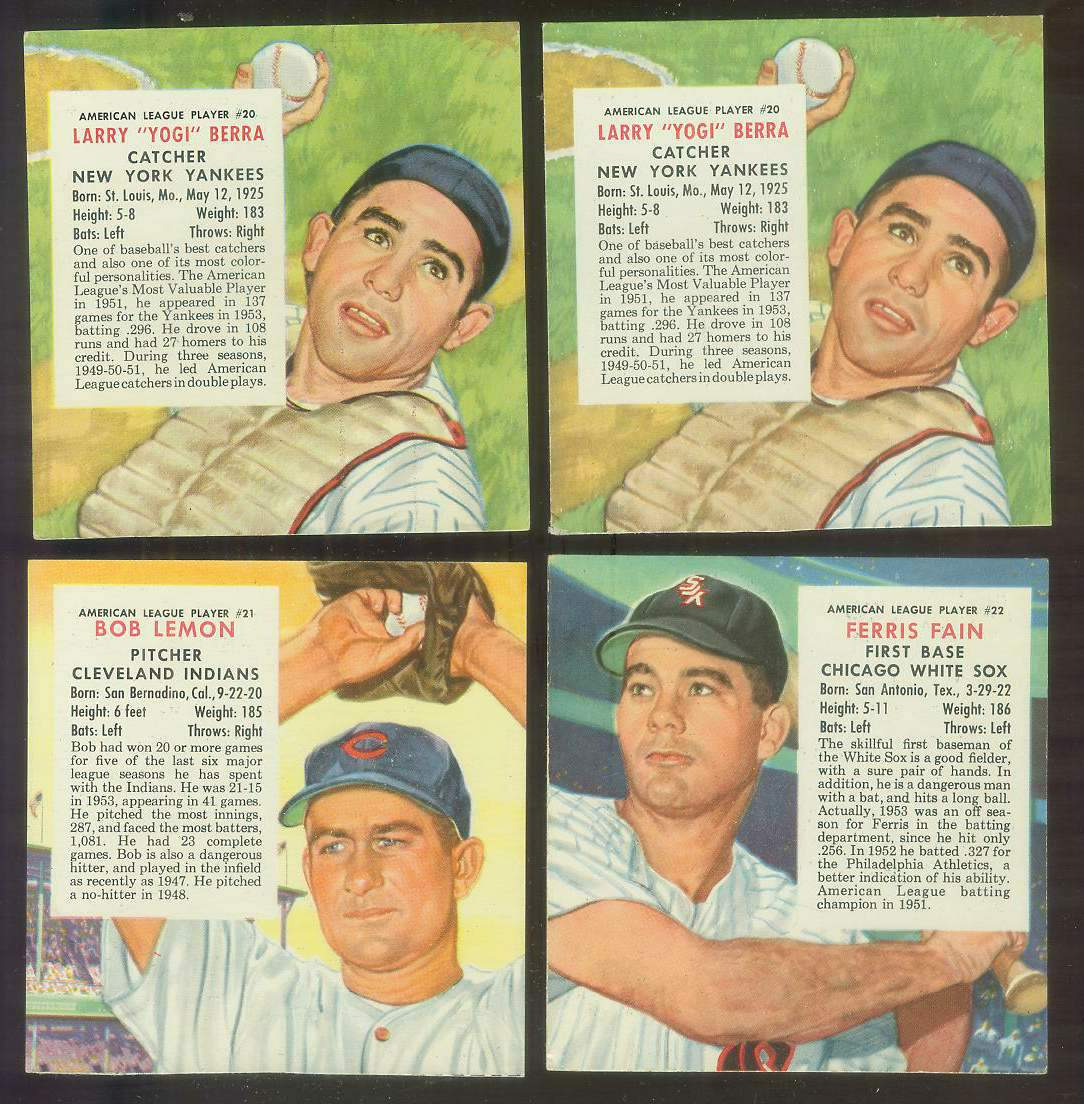 1954 Red Man #AL20 Yogi Berra (Yankees) Baseball cards value