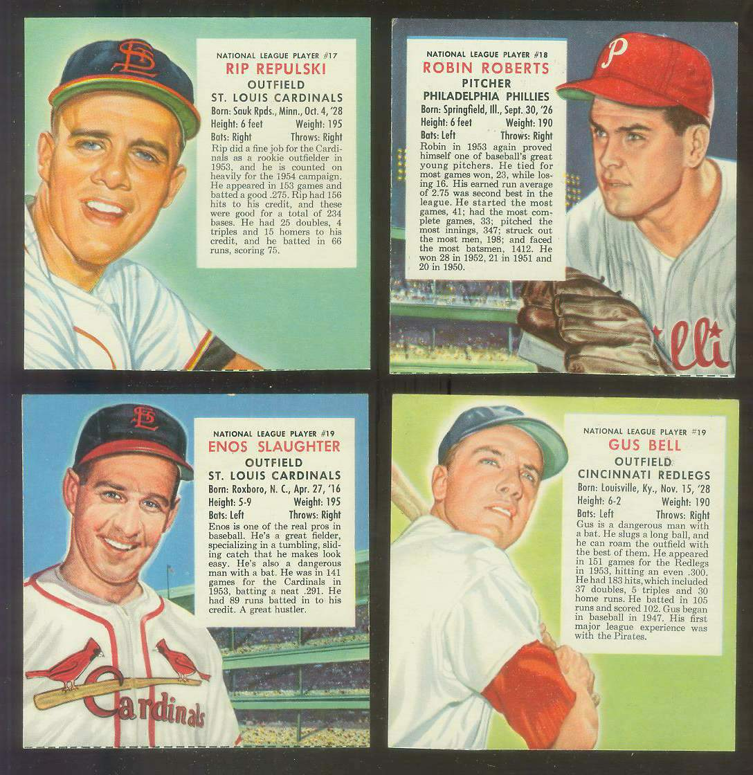 1954 Red Man #NL19B Gus Bell (Reds) Baseball cards value