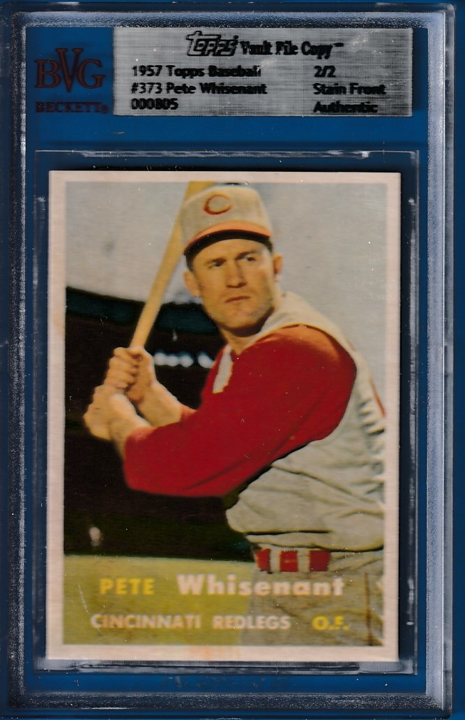 1957 Topps #373 Pete Whisenant - TOPPS VAULT FILE COPY [SF] (Reds) Baseball cards value