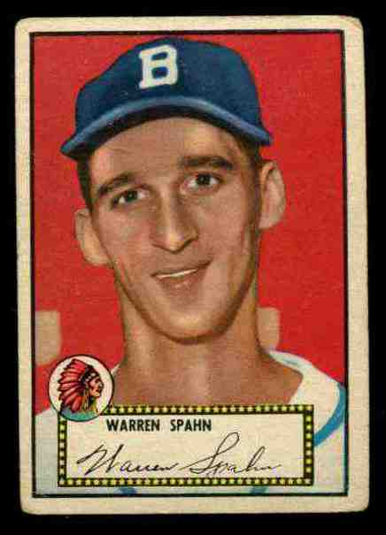 1952 Topps #.33 Warren Spahn BLACK-BACK [#x] (Boston Braves) Baseball cards value