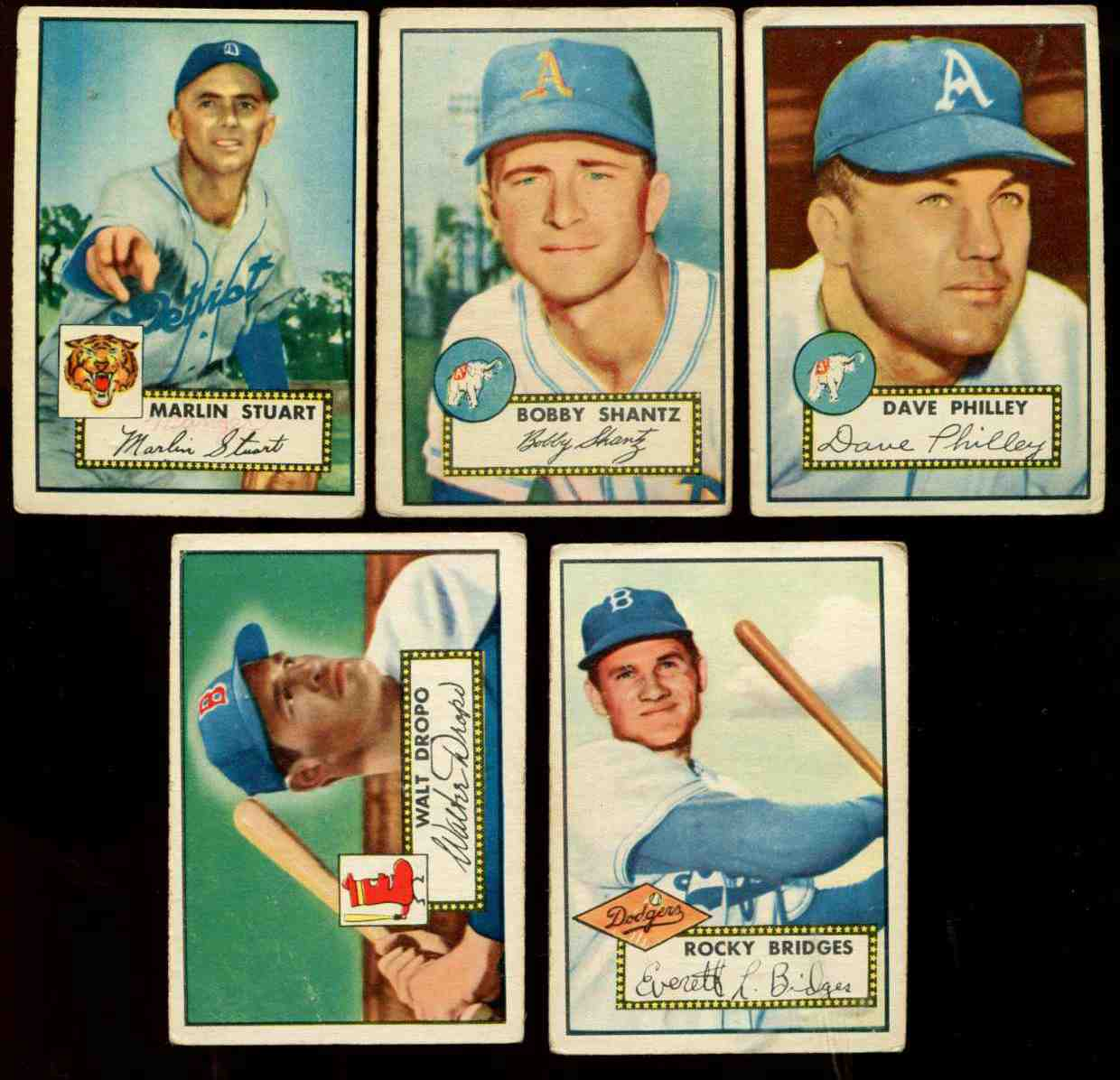 1952 Topps #219 Bobby Shantz [#x] (Philadelphia A's) Baseball cards value