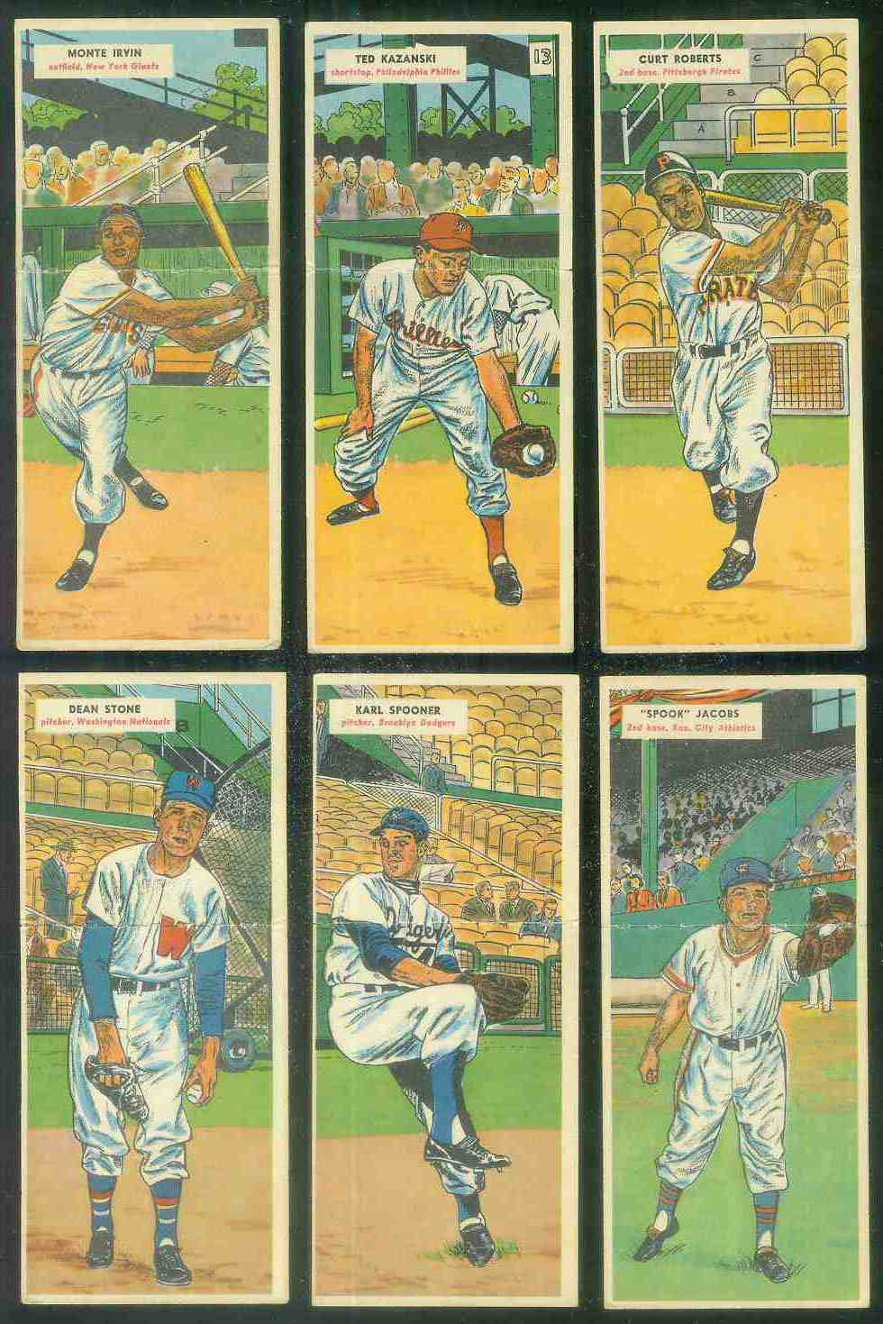 1955 Topps Double Header #.19 Karl Spooner ROOKIE / #20 Jim Hughes [#x] Baseball cards value