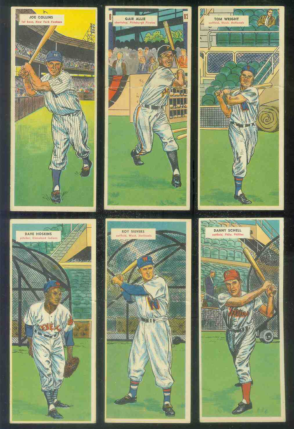 1955 Topps Double Header #.75 Tom Wright / #76 Vernon Stewart [#x] Baseball cards value