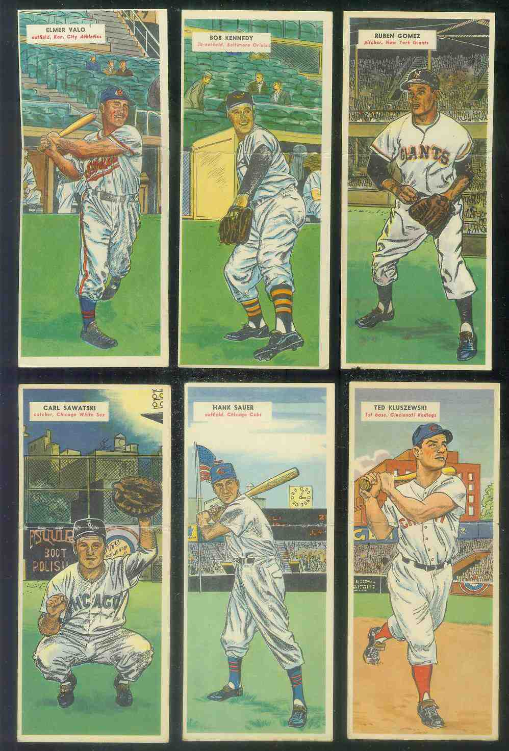 1955 Topps Double Header #.87 Bob Kennedy / #88 Windy McCall [#x] Baseball cards value