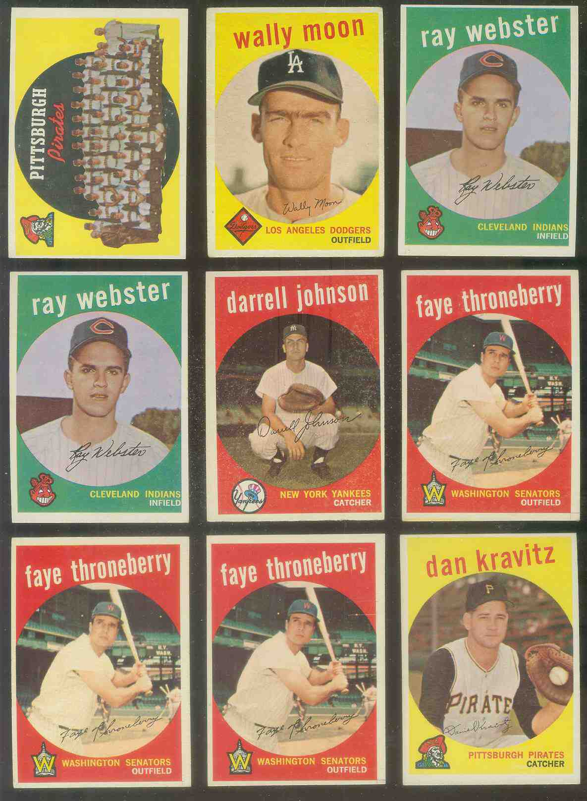 1959 Topps #536 Danny Kravitz SCARCE HIGH #.[#j] (Pirates) Baseball cards value