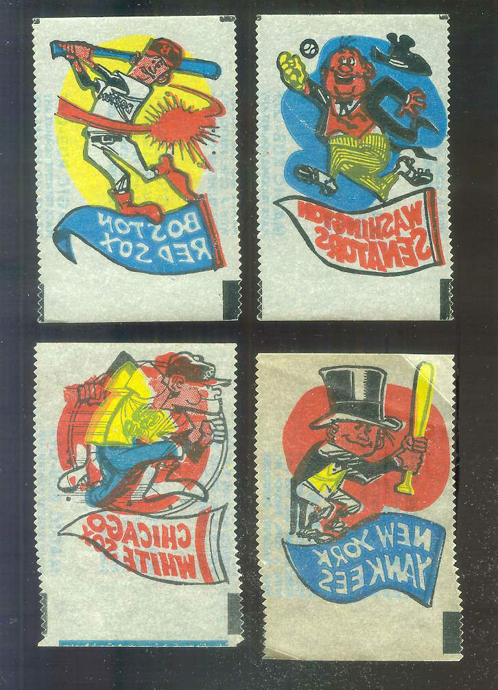 1961 Topps MAGIC RUB-OFFS - Red Sox Mascot & Pennant Baseball cards value