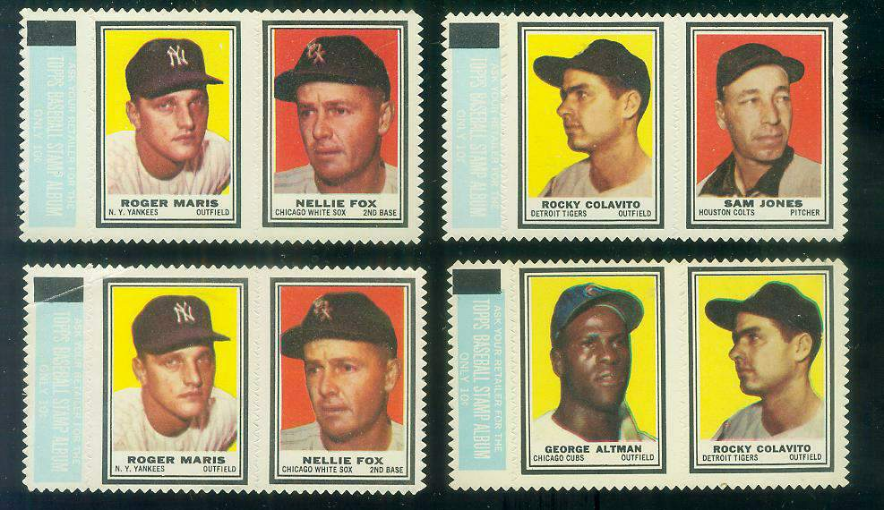 ROCKY COLAVITO/Sam Jones - 1962 Topps STAMP PANEL with TAB !!! Baseball cards value