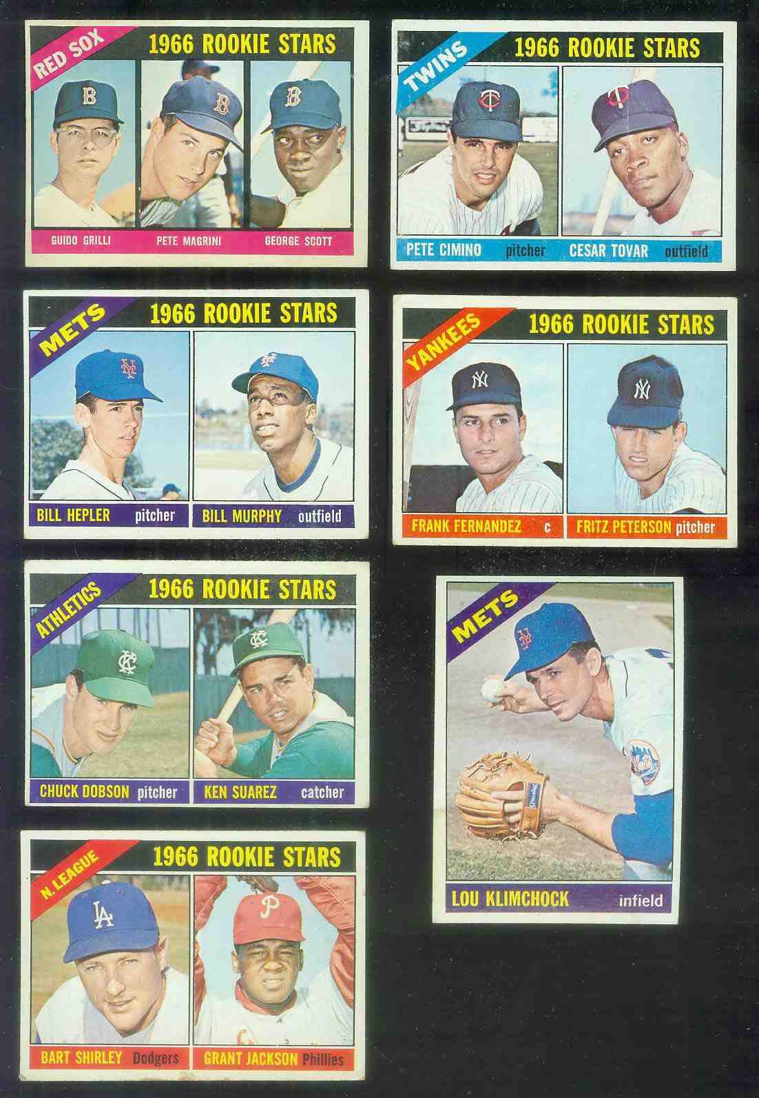 1966 Topps #574 Mets ROOKIES SCARCE HI# (Bill Hepler,Bill Murphy) Baseball cards value