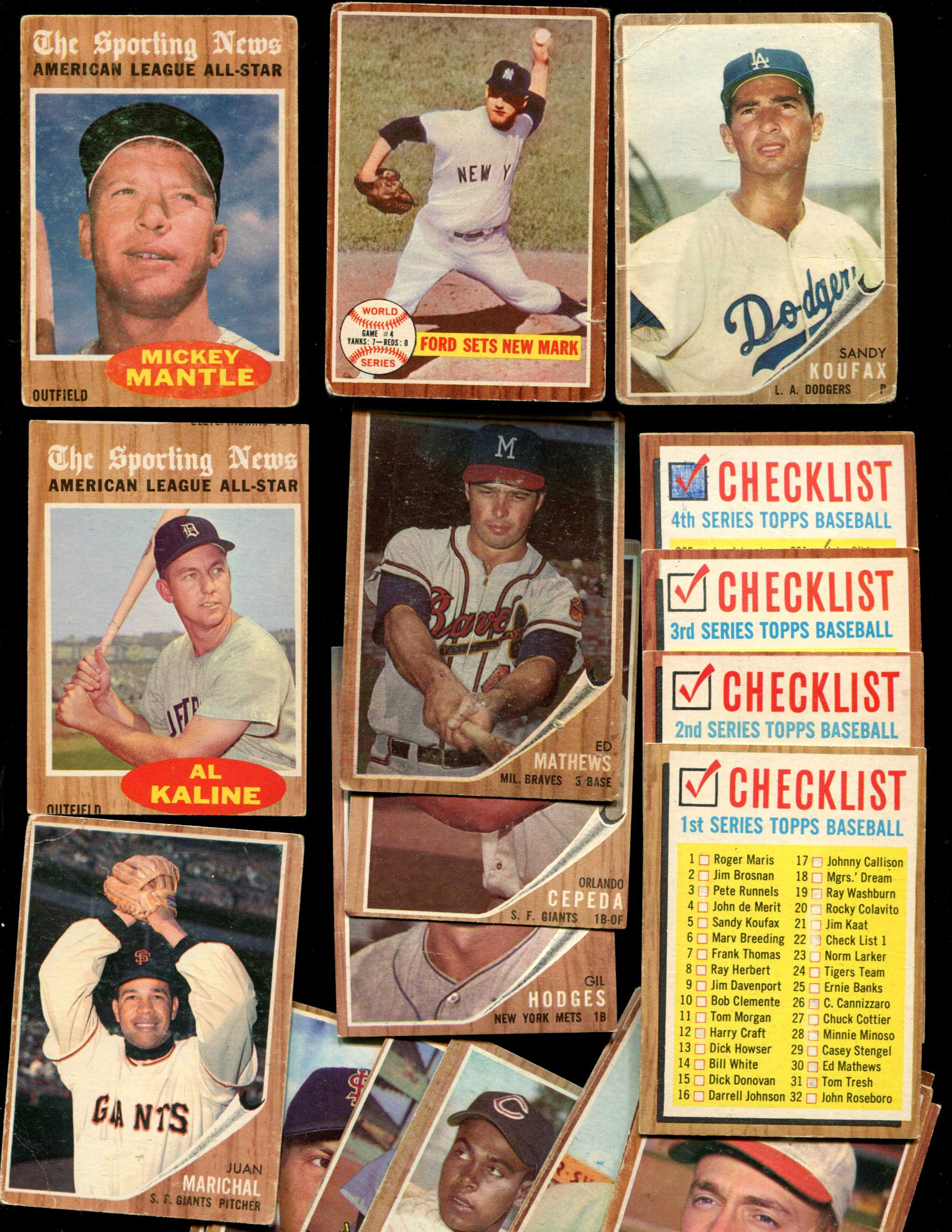 1962 Topps Baseball Cards Set Checklist Prices Values