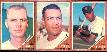1962 Topps  3-Card PANEL - Jerry Kindall, Ozzie Virgil & Chuck Hinton