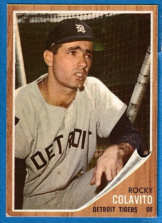 1962 Topps 20 Rocky Colavito Tigers