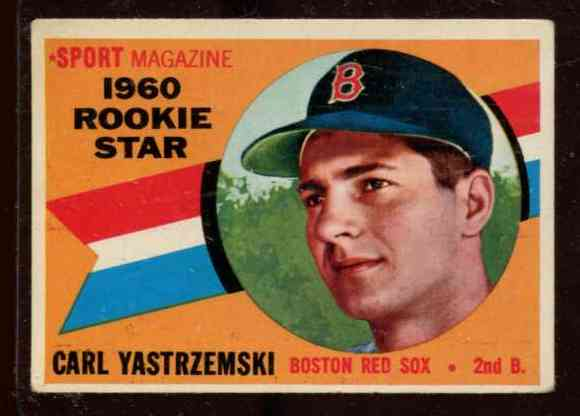 1960 Topps #148 Carl Yastrzemski ROOKIE [#b] (Red Sox) Baseball cards value