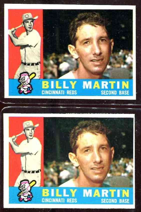 1960 Topps #173 Billy Martin [#d] (Reds) Baseball cards value