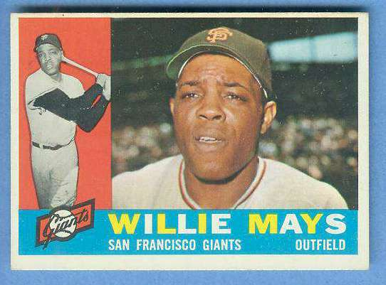 1960 Topps #200 Willie Mays (Giants) Baseball cards value
