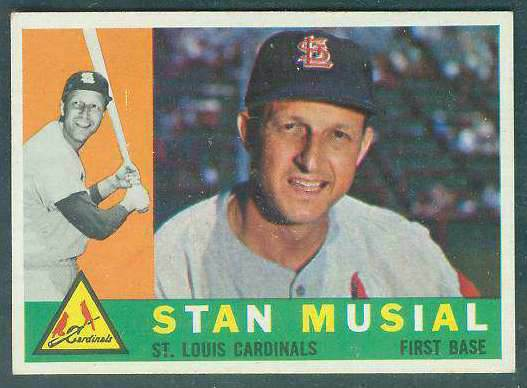 1960 Topps #250 Stan Musial [#b] (Cardinals) Baseball cards value