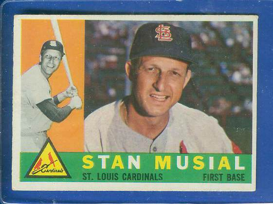 1960 Topps #250 Stan Musial [#csc] (Cardinals) Baseball cards value