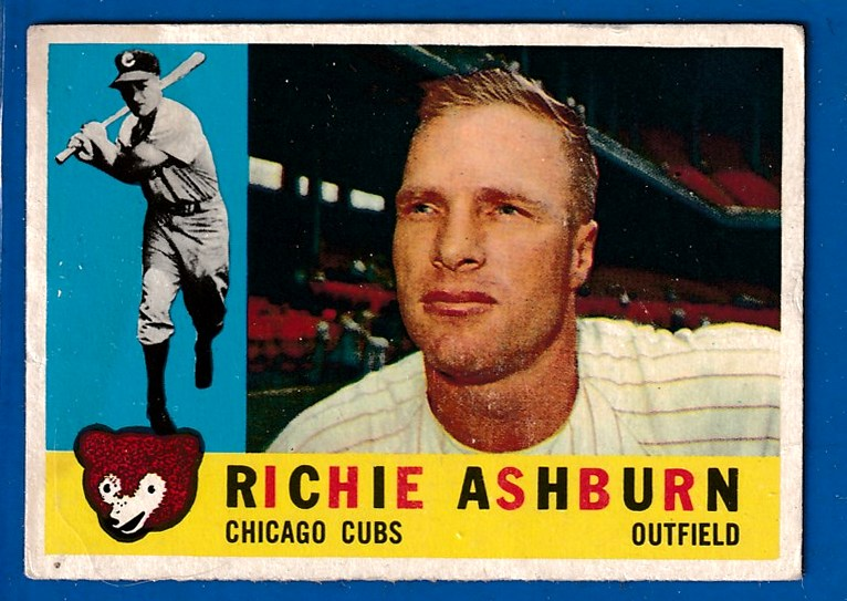 1960 Topps #305 Richie Ashburn [#asc] (Cubs) Baseball cards value