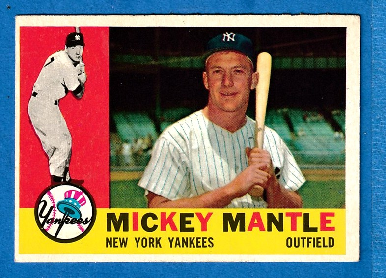 1960 Topps #350 Mickey Mantle (Yankees) Baseball cards value