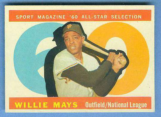 1960 Topps #564 Willie Mays All-Star [#a] SCARCE HIGH NUMBER (Giants) Baseball cards value