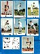 1960 Bell Brand Dodgers  - Lot of (8) diff. with SANDY KOUFAX
