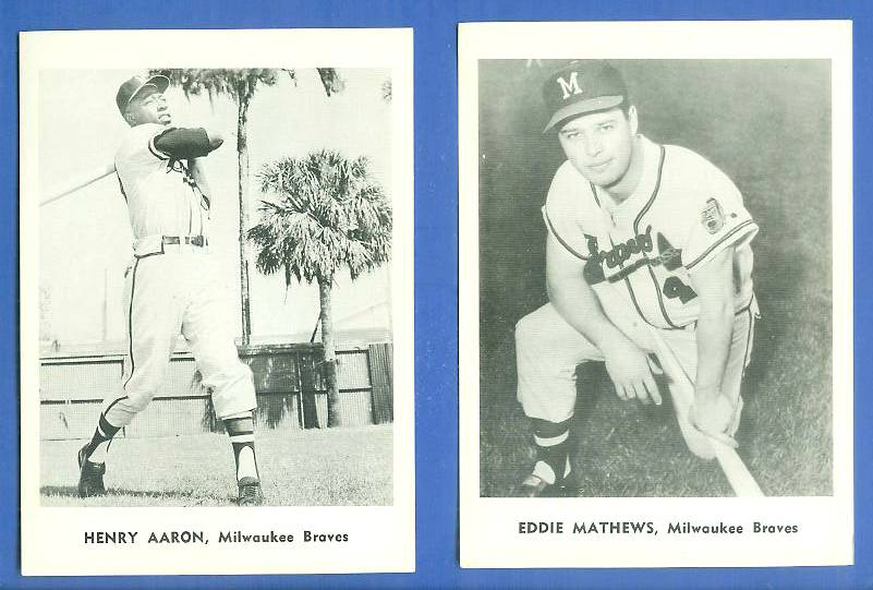 1961? Braves Jay Publishing #.9 Eddie Mathews Baseball cards value