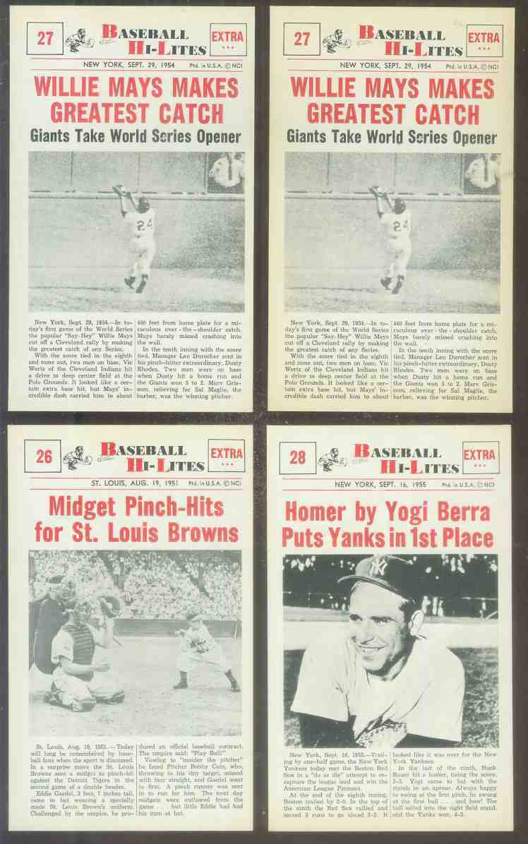 1960 Nu-Card Hi-Lites #28 Yogi Berra - 'Homer Puts Yanks in 1st Place' Baseball cards value