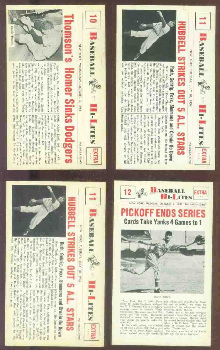 1960 Nu-Card Hi-Lites #10 Bobby Thomson - 'Homer Sinks Dodgers' Baseball cards value