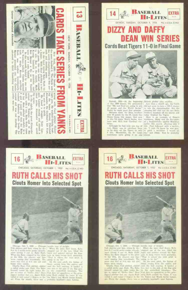 1960 Nu-Card Hi-Lites #16 BABE RUTH - 'Calls His Shot' (Yankees) Baseball cards value