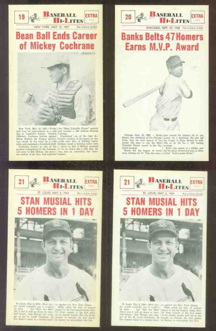 1960 Nu-Card Hi-Lites #21 Stan Musial - 'Hits 5 Homers in One Day' Baseball cards value