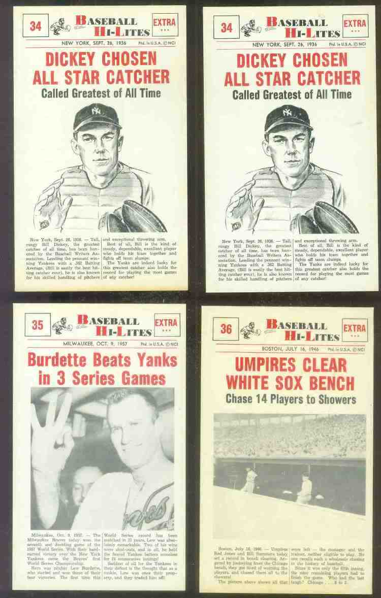 1960 Nu-Card Hi-Lites #34 Bill Dickey - 'Chosen All-Star Catcher' Baseball cards value