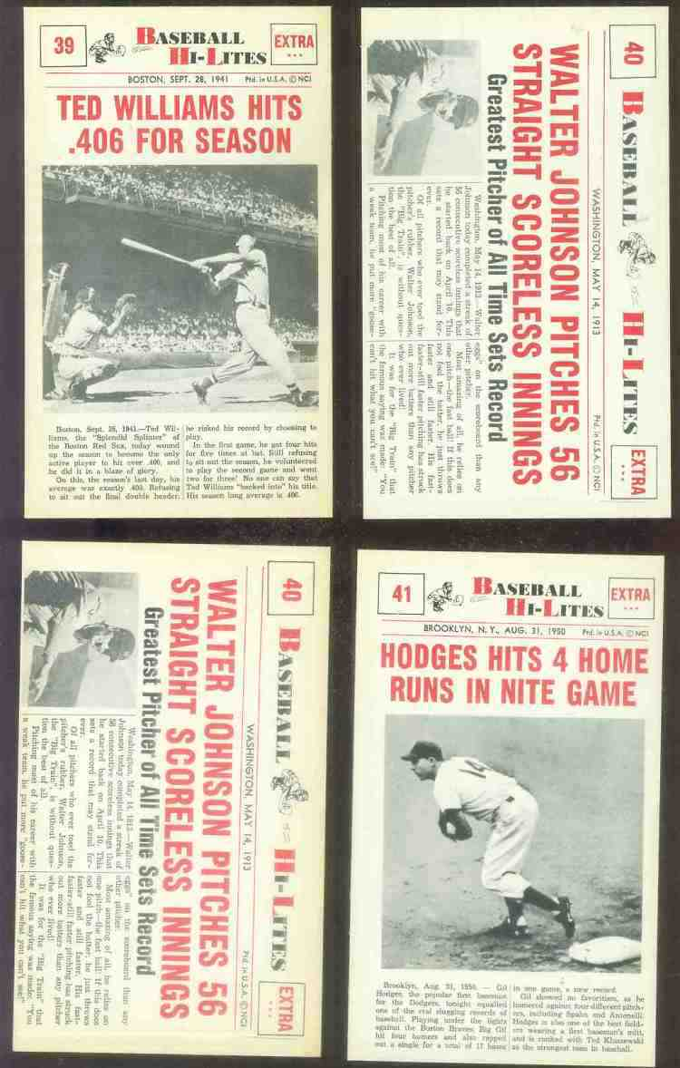 1960 Nu-Card Hi-Lites #39 Ted Williams - 'Hits .406 For Season' Baseball cards value