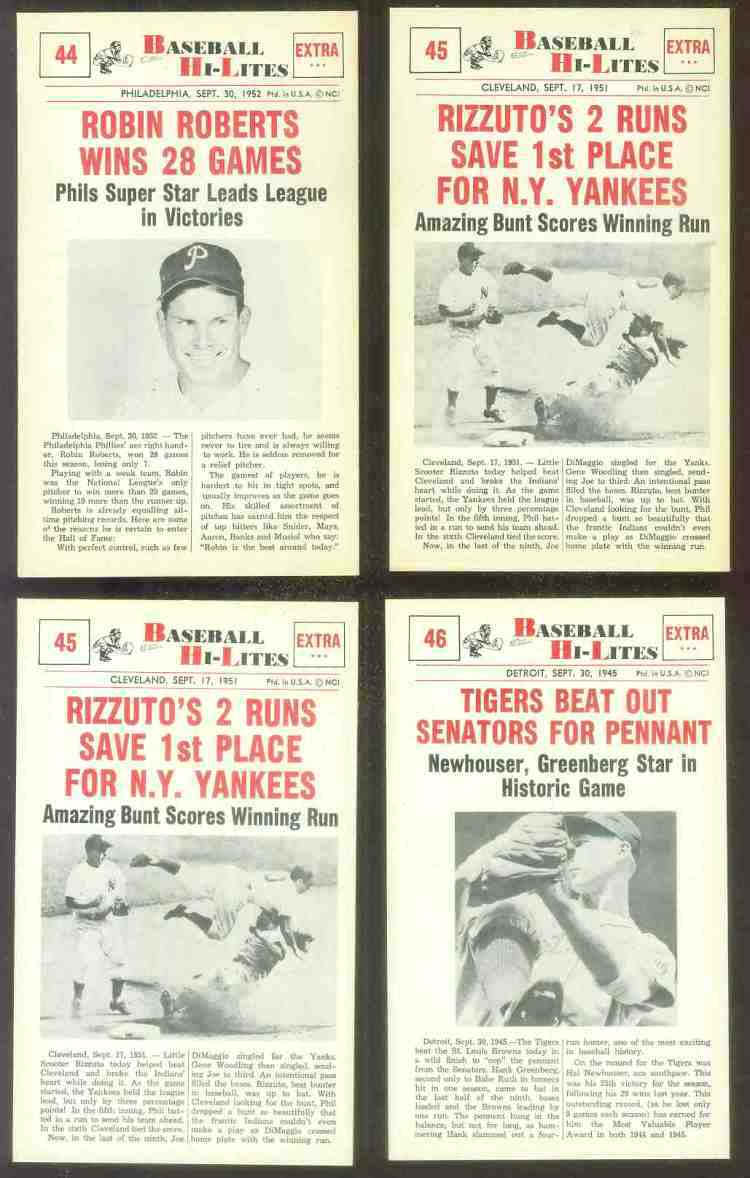 1960 Nu-Card Hi-Lites #45 Phil Rizzuto - 'Two Runs Save 1st Place' Baseball cards value